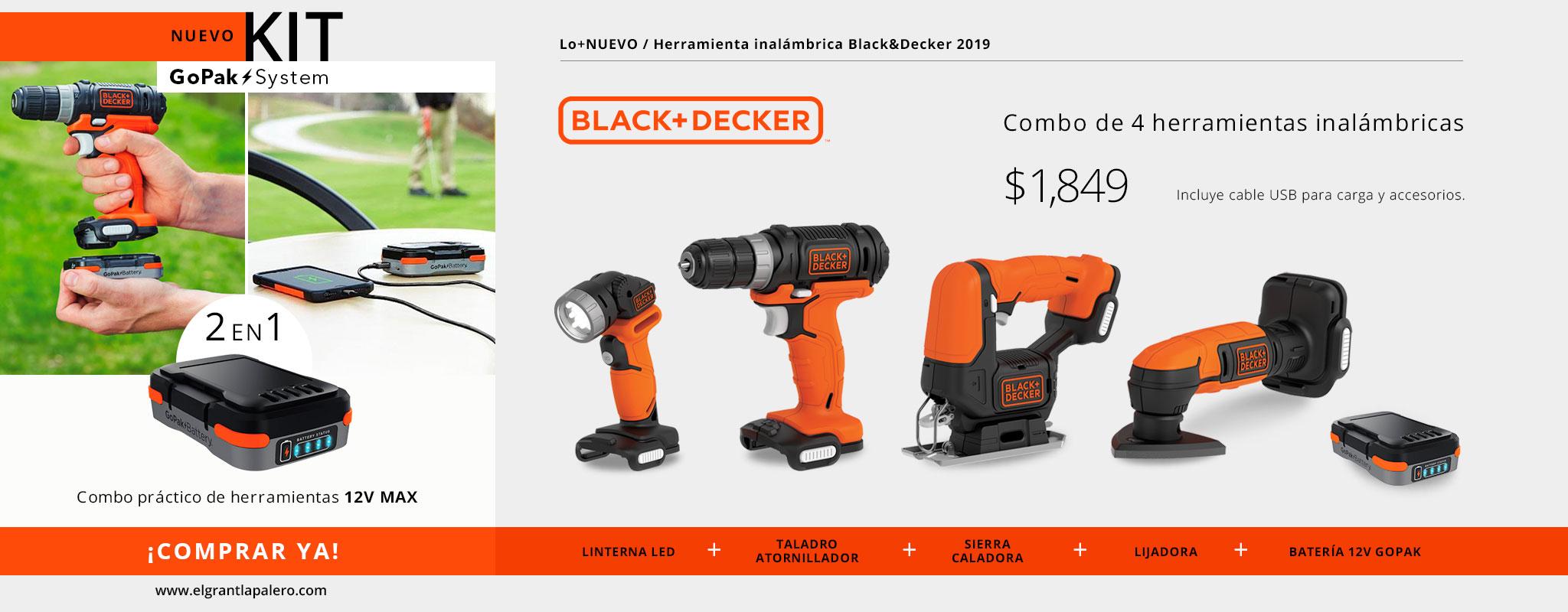 Nueva herramienta inalámbrica para tus Proyectos: GoPak Black&Decker