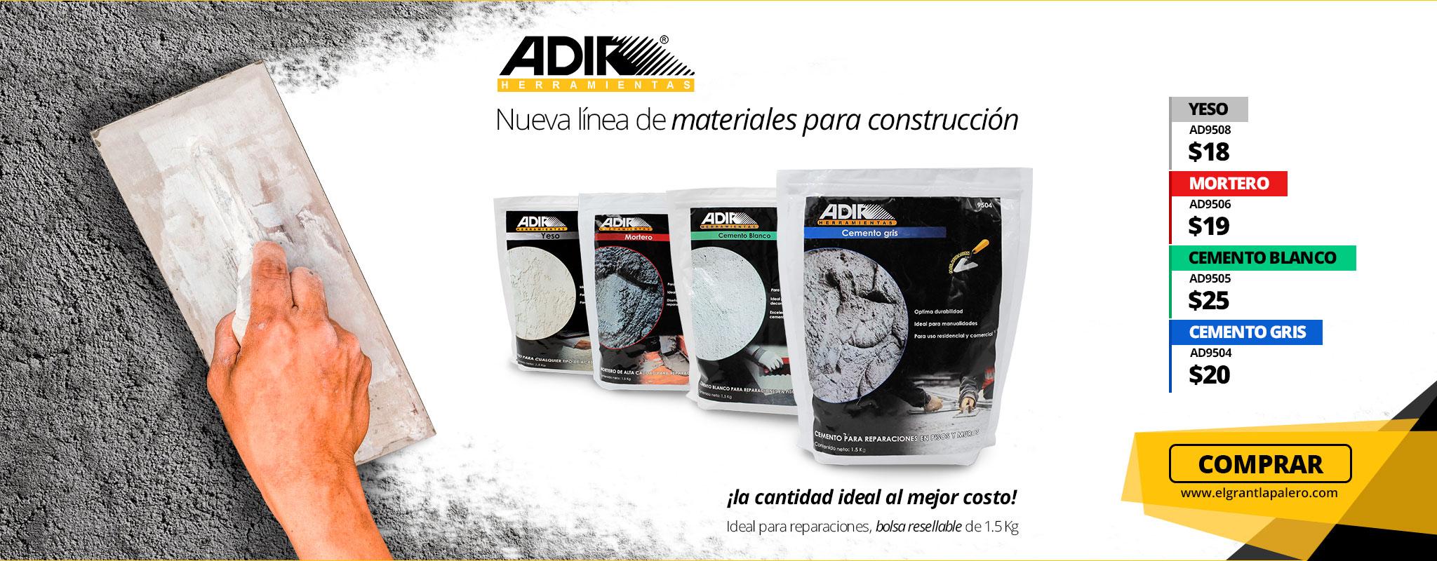 Nueva línea de materiales para la construcción Adir