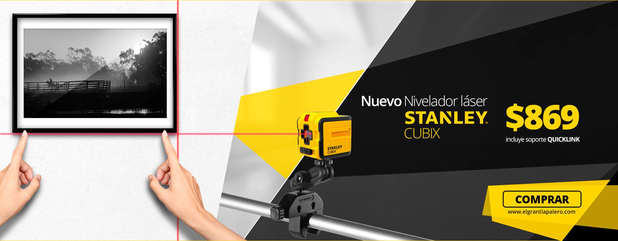 Conoce el nuevo nivelador laser Stanley CUBIX!