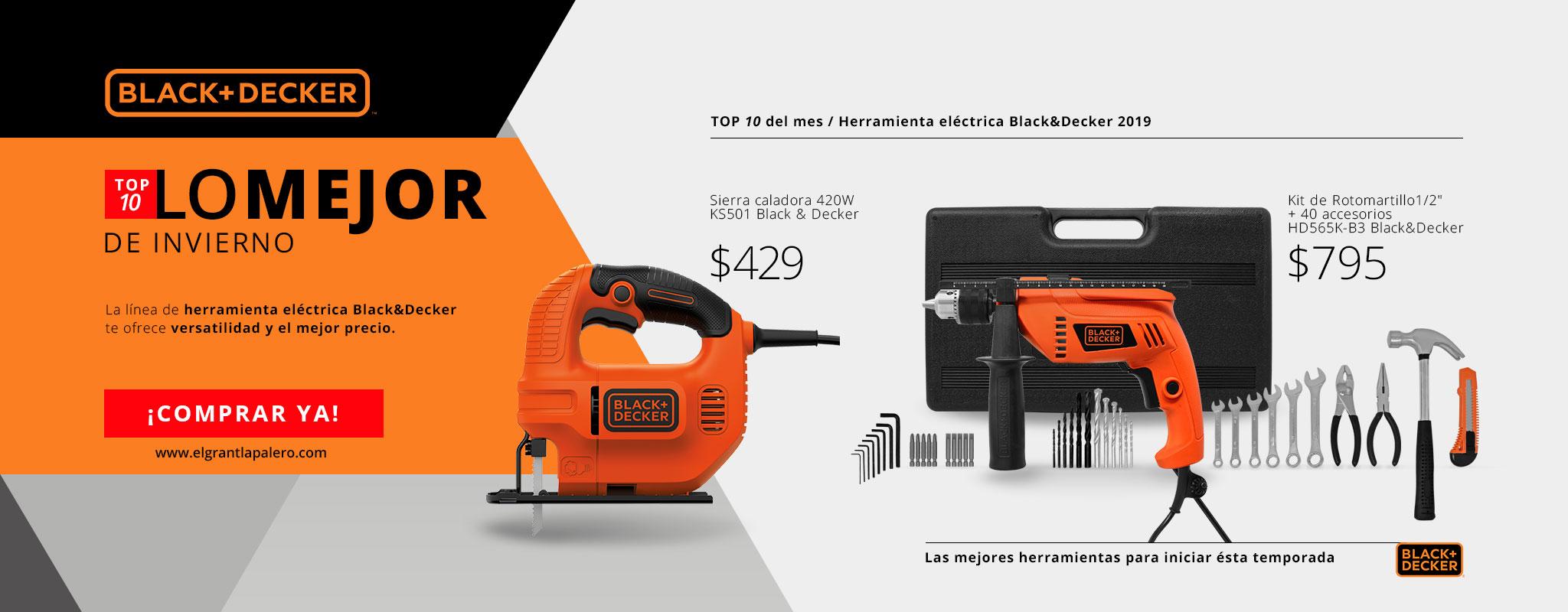 Nuestro TOP 10 en herramienta eléctrica BlackDecker!