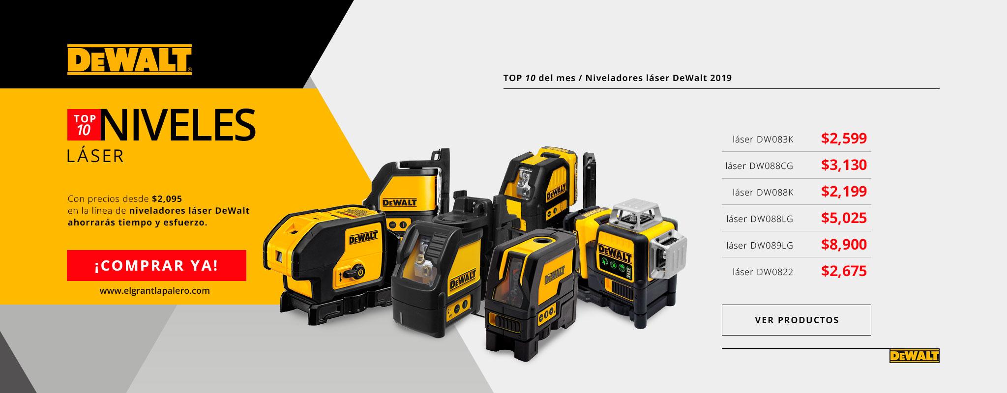 Nuestra mejor selección de niveladores Laser DeWalt!