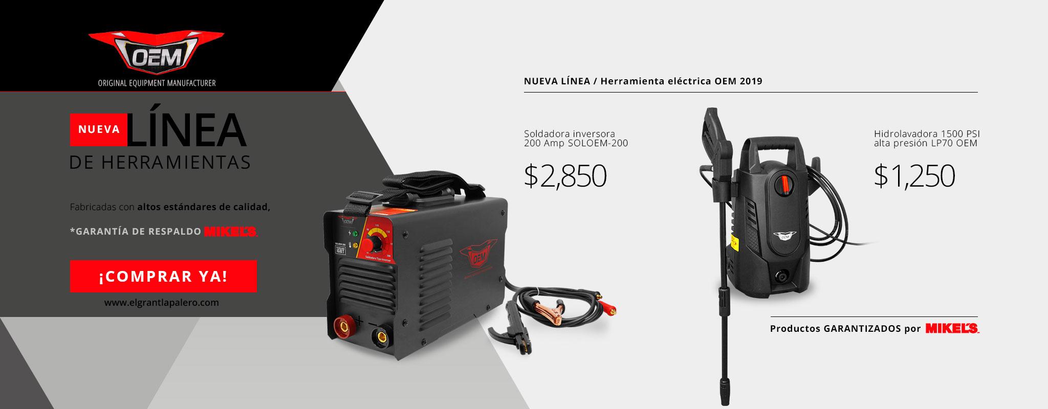 Nueva línea de herramienta eléctrica con Garantía MIKELS!