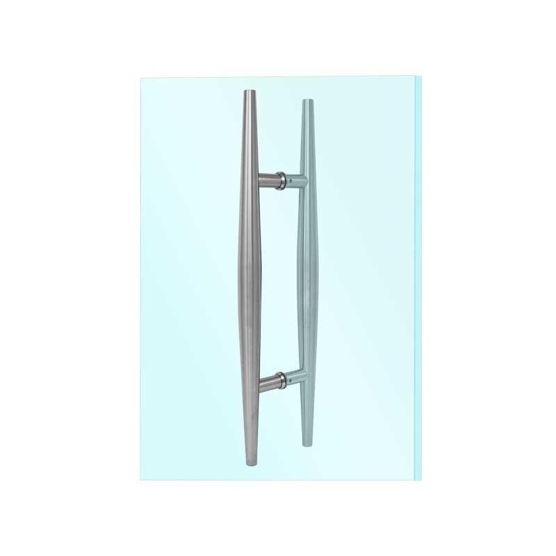 Jaladera Tipo H Para Puertas De Cristal Satinada Brk345 Bruken
