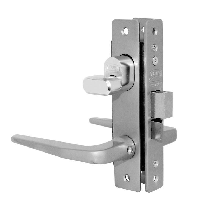 Cerradura para puerta residencial aluminio natural 549 mc for Cerraduras para puertas de aluminio
