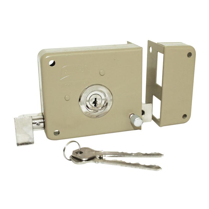Cerradura de sobreponer derecha insta f cil llave larga for Cerraduras para exterior