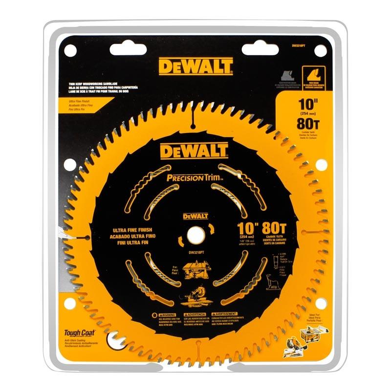 "Disco sierra 10"" x 80 dientes Precision Trim DW3218PT DeWalt"