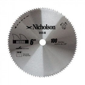 """Sierra circular de diente fino 6"""" Nicholson"""