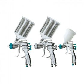 Kit de 3 pistolas para pintura automotriz HVLP Devilbiss