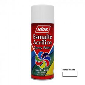Pintura en aerosol blanco brillante 400 ml Hiuk