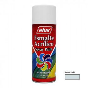 Pintura en aerosol blanco mate 400 ml Hiuk
