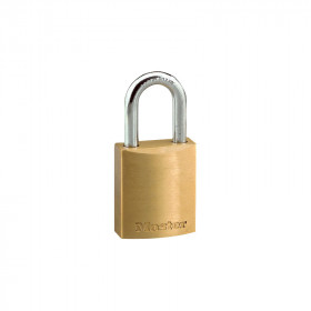 Candado gancho corto 20 mm latonado Master Lock