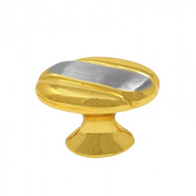 Jaladera botón oro / niquel satin Tramp 324 Ashico