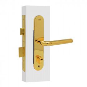 Cerradura para entrada principal JM latón brillante 9.1502.33 Soprano
