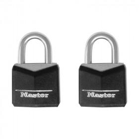 Juego de candados gancho corto cubierta de vinil 121T Master Lock