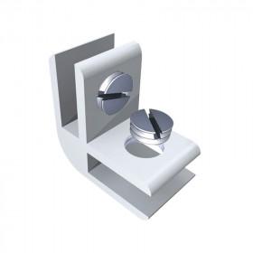 """Conector para vidrio """"L"""" Herralum"""