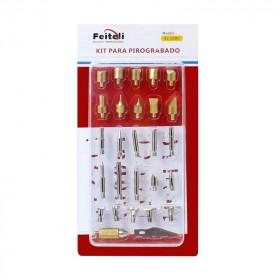 Kit de puntas para pirograbado 28 piezas EL0280 Feiteli