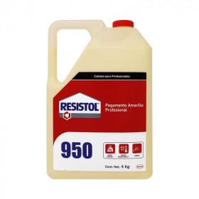 Pegamento Resistol 950 amarillo de 4 Kg